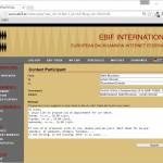 10-EBIF_MyEBIF_ContactParticipant - Maç tarihi ve saati belirlemek üzrere mesaj atabilmeniz bu ekrandan sağlanır. Dolu gelen mesaj şablonu İngilizce'dir, silebilirsiniz